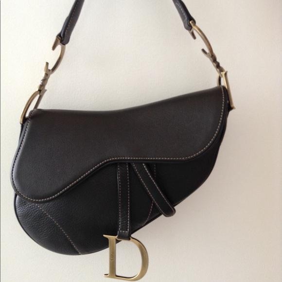 Dior Handbags - Dior Saddle Bag Black Calfskin Leather-Worn 1 time d6abdfe3671f5